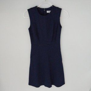 Reiss Navy Piping Detail Dress Sz 0